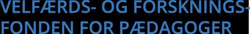 Velfærds- og Forskningsfonden for Pædagoger Logo